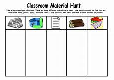 sorting materials sheet 7838 classroom material hunt by kmed2020 teaching resources tes