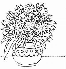 Blumen Malvorlagen Kostenlos Zum Ausdrucken Chip Ausmalbild Muttertag Blumentopf Mit Vielen Blumen