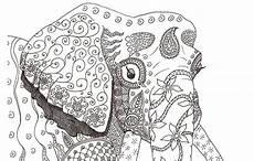 elephant adult awesome coloring pages