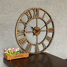 fcoson vintage metal clock hollowed out numeral