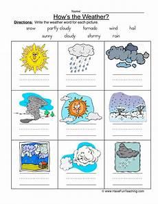 weather names worksheet 1