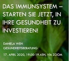 das koennen sie tun um die umwelt zu zoom seminar 17 april 2020 um 19 00h quot das immunsystem