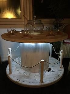 Kabeltrommel Tisch Vintage Maritim Shabby Stil บาร
