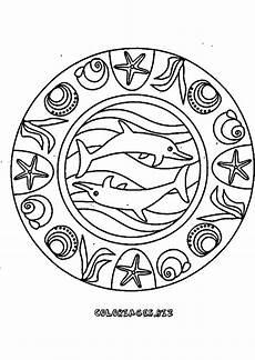 ausmalbild mandala delfin malvorlagen