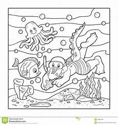 coloring book for children crocodile diver floor
