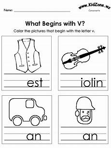 letter v worksheets for grade 23348 color the pictures beginning letter sounds