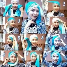 Tutorial Jilbab Segi Empat Untuk Kebaya Dua Warna Ide