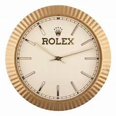 rolex wall clock circa 1980s at 1stdibs
