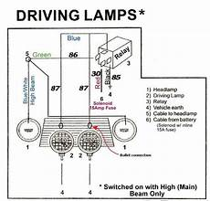 wipac driving lights wiring diagram classic wiring spots and ls problems questions and diy paddy s garage