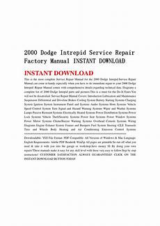 vehicle repair manual 1995 dodge intrepid engine control 2000 dodge intrepid service repair factory manual instant download by jsefjsen34 issuu