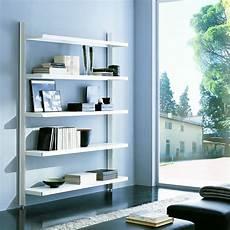 scaffali design scaffale metallico brody da parete in acciaio bianco 125 x