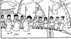 Cara Menggambar Tema Hut Proklamasi Ri Lomba Balap Karung