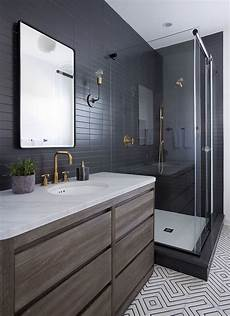 modern bathroom floor tile ideas sleek modern bathroom with glossy tiled walls threshold interiors nyc bathroom small