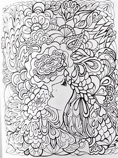 9 best images about fanciful faces coloring for adults art