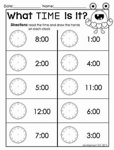 time on the hour worksheets for kindergarten 3611 february printables kindergarten literacy and math a well literacy and