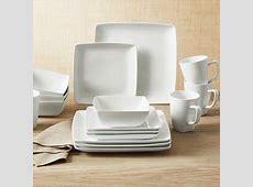 Better Homes & Gardens Porcelain Coupe Square Dinnerware