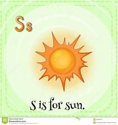 sun lettere letter s stock vector image 54493672