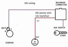 hei starter wiring diagram chevy ii hei wire replacement