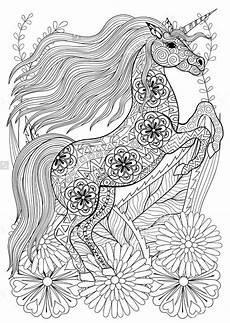 Ausmalbilder Erwachsene Einhorn Coloring Pages For Adults Unicorn Printable Free To