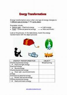 physical science energy transformation worksheet 13198 energy transformations worksheet for 4th 8th grade lesson planet