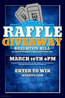 Raffle Ticket Fundraiser Flyer Poster Raffle Flyer Template For Giveaways Flyer Template Flyer