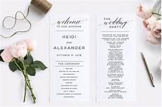 wedding program editable pdf wedding templates creative market