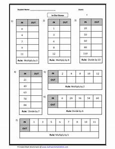 practice in out boxes worksheets to learn the basics in multiplication and division math