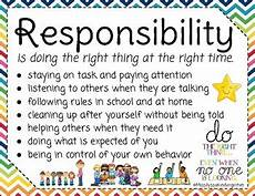 responsibility lesson certificate poster and worksheet tpt