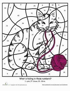 color by number cat coloring pages 18089 color by number cat worksheet education