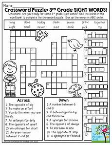riddle worksheets for third grade 10906 crossword puzzle 3rd grade sight words great introduction to get second grade students ready