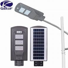 gbkof outdoor motion sensor solar powered led pole wall