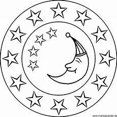 Malvorlage Sterne Und Mond Mond Und Sterne Mandala Und Malvorlage F 252 R Kinder Und