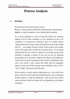 process analysis paragraph