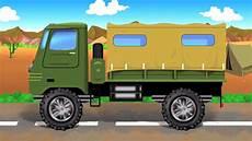 Tentara Truk Mobil Garasi Kartun Untuk Anak Populer
