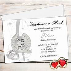 25 Wedding Anniversary Invitation Cards