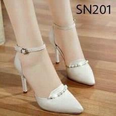 jual sepatu heels warna putih tulang terbaru sepatu heels sepatu high heels