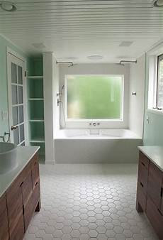 Bathroom Ideas Hexagon Tile by 34 White Hexagon Bathroom Floor Tile Ideas And Pictures