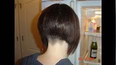 buzzed bob haircut short bob haircut buzzed nape youtube