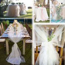 white 54 quot x45 ft 15 yards tulle bolt wedding decoration