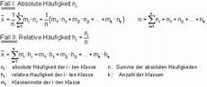formelsammlung zur beschreibenden statistik