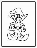 Coloring Sheet Christmas Elf Print Pages Free