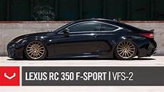 lexus rc 350 f sport bagged quot black bronze quot vossen hybrid forged vfs 2 wheels youtube