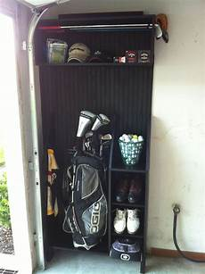 Garage Storage Ideas For Golf Clubs by Custom Made Golf Locker In My Garage Made Mostly From