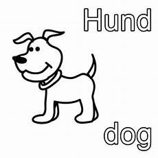 kostenlose malvorlage englisch lernen hund zum ausmalen