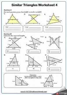 congruence and similarity worksheets cazoomy