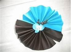 modele de pliage de serviette deux couleur choix de couleur