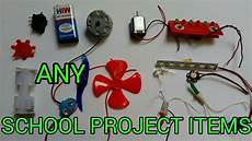 any school project items motor fan led bulbs battery switch windmill youtube