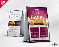 tent card template photoshop cafe tent card free psd psddaddy