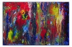 gelb rot blau neptuns reich acrylbild abstrakt blau gelb rot abstrakte kunst blau liquid painting gelb