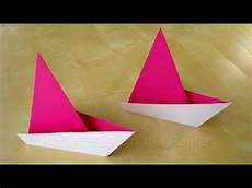 schiffchen falten anleitung origami segelboot falten einfaches origami schiff